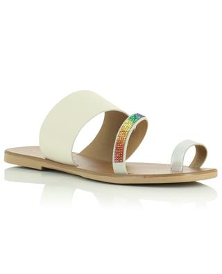 Dawn Rainbow bone leather Slides KURT GEIGER LONDON