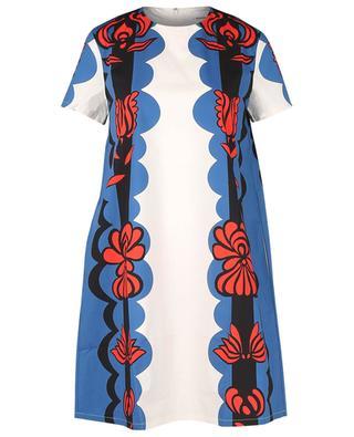Robe trapèze en popeline imprimée Mini Swing Carpathian LA DOUBLEJ