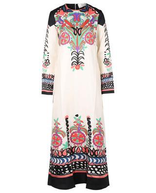 Langes A-förmiges Kleid aus Seide Swing Calata LA DOUBLEJ