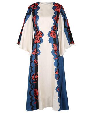 Sorella Carpathian printed silk midi dress LA DOUBLEJ