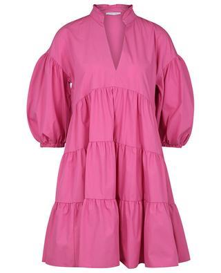 Kurzes A-förmiges Kleid aus nachhaltiger Baumwolle Loretta IBLUES