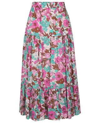 Ixie long floral tiered flounced skirt IBLUES