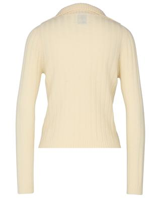 Cashmere jumper with slit stand-up collar ALLUDE
