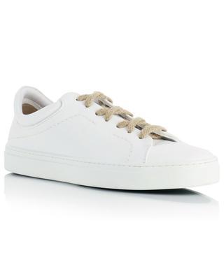 Baskets basses à lacets en cuir végan blanc Neven Low YATAY