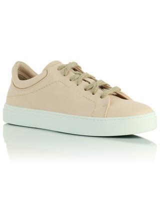 Pinke vegane Schnür-Sneakers aus Leder Neven Low YATAY