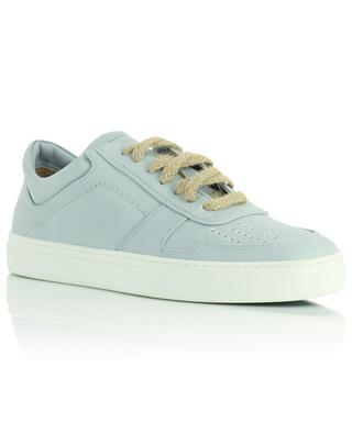 Irori light blue vegan leather lace-up low sneakers YATAY