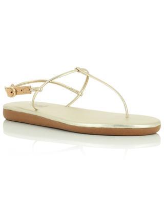 Sandales plates en cuir synthétique doré Katerina ANCIENT GREEK SANDALS