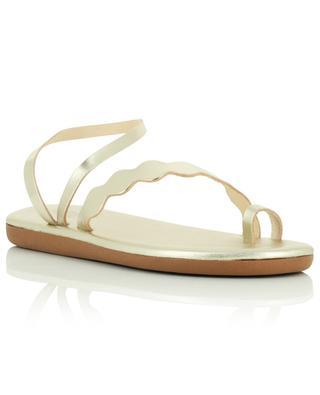 Sandales plates en cuir doré surcyclé Koralia ANCIENT GREEK SANDALS