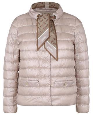 Doudoune courte Ultralight détail foulard HERNO