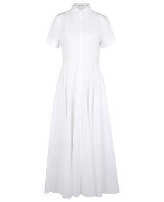 Robe chemise longue à rayures ajourées ALAIA