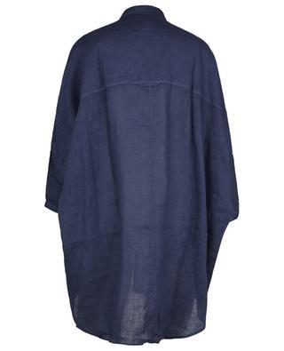 Short-sleeved oversize linen shirt 120% LINO