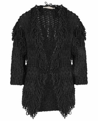 Baklava cable knit cardigan with fringes ONEOONE