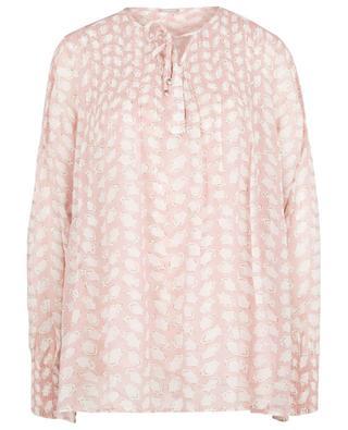 Pisana Bean loose-fitting blouse in printed crepe HEMISPHERE