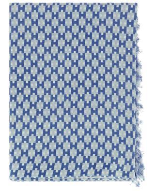 Deitler monogrammed fine cashmere and silk scarf HEMISPHERE
