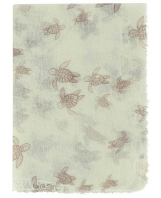 Dluck turtle printed thin wool scarf HEMISPHERE