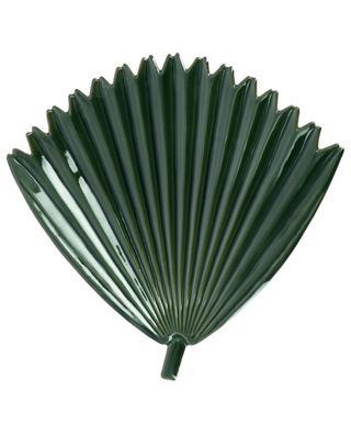 Ceramic green palm tree leaf tray KERSTEN
