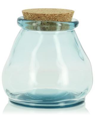 Glass jar with cork lid KERSTEN