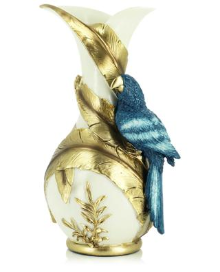 White and golden vase with parrot KERSTEN