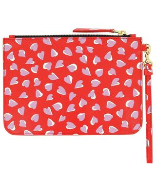 The Snapshot Wristlet pouch in heart printed saffiano leather MARC JACOBS