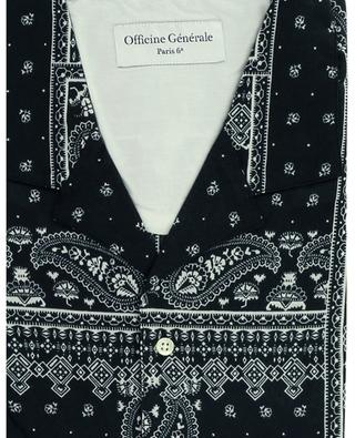 Chemise à manches courtes imprimée bandana Eren OFFICINE GENERALE
