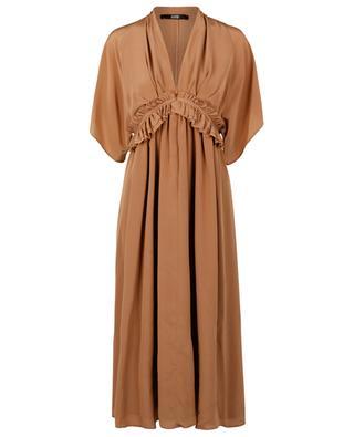 Midilanges Empire-Kleid aus Seide SLY 010
