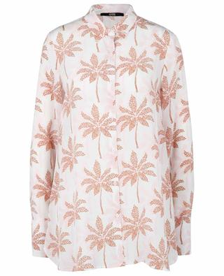 California Palmtrees silk crepe oversize shirt SLY 010