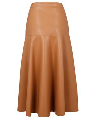 Flared faux leather midi skirt SLY 010