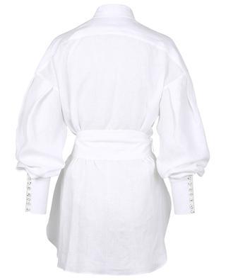 Chemise longue en lin avec ceinture SLY 010