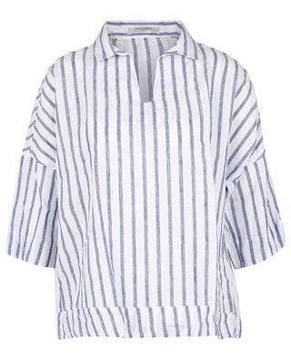 Filly striped linen boxy blouse ARTIGIANO