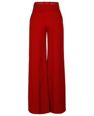 Flared double-face crepe high-rise trousers CHLOE