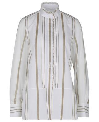 Striped bi-material monogrammed shirt CHLOE