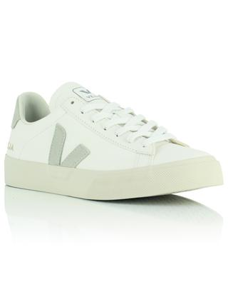 Campo Chromefree leather extra white sneakers with suede yokes VEJA