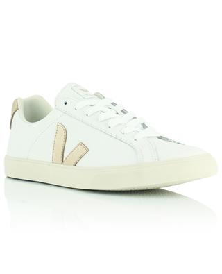 Esplar leather extra white Sneakers with platinum coloured monogram VEJA