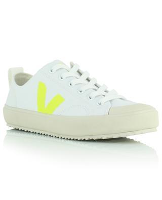 Nova Canvas sneakers with fluo yellow yoke VEJA