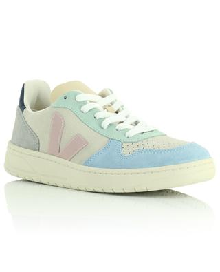 V-10 Multico Natural Babe low suede lace-up sneakers VEJA
