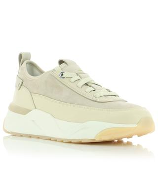 Innova low-top lace-up sneakers in suede and leather SANTONI
