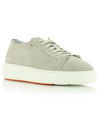 Sneakers aus Wildleder mit dicken Sohlen SANTONI