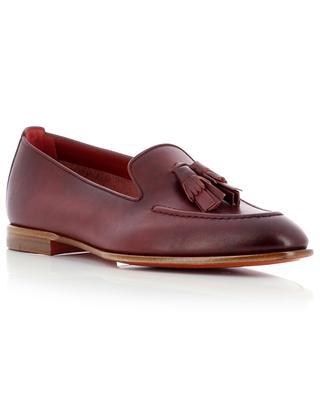 Smooth leather loafers with tassels SANTONI