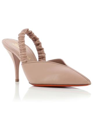 Sling-back pumps in leather with gathering SANTONI