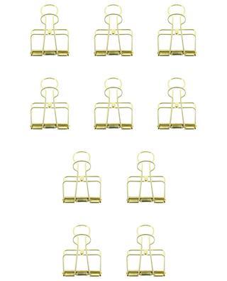 10 Aktenklammern aus goldenem Metall Outline HAY