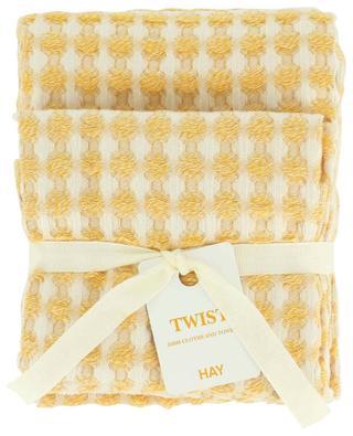 Zwei Geschirrtücher im Set in Gelb Twist HAY