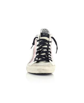 Hohe Sneakers mit Reissverschluss und Glitter Slide Double Quarter GOLDEN GOOSE