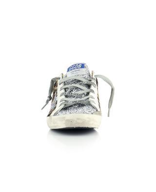 Sneakers aus Fell-Leder mit Leopard-Effekt und Glitter Super-Star GOLDEN GOOSE