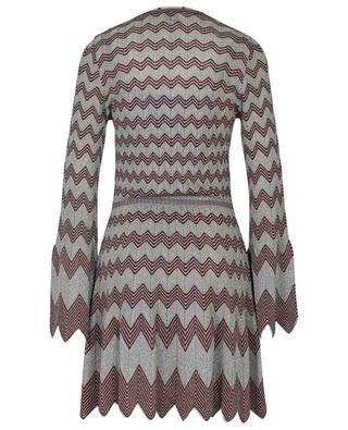 Mini robe scintillante en maille zigzag à manches cloche M MISSONI