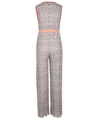 Zigzag patterned knit mini skirt M MISSONI