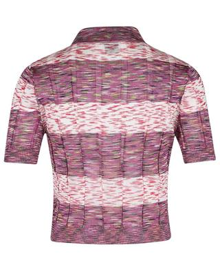 Verkürztes Strick-Polohemd mit bunten Streifen M MISSONI