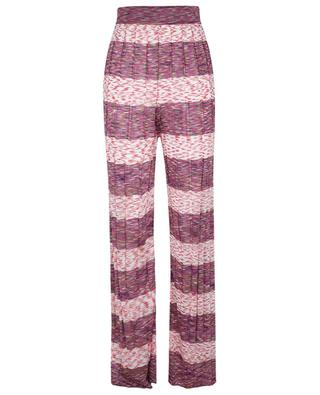 Pantalon large en maille à rayures multicolores M MISSONI