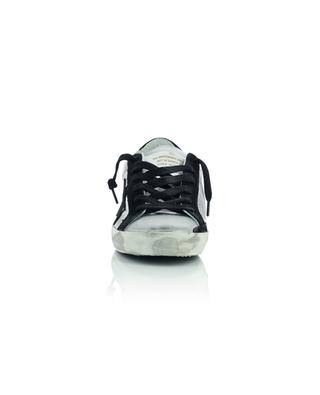 Superstar silver leather and black suede distressed sneakers GOLDEN GOOSE