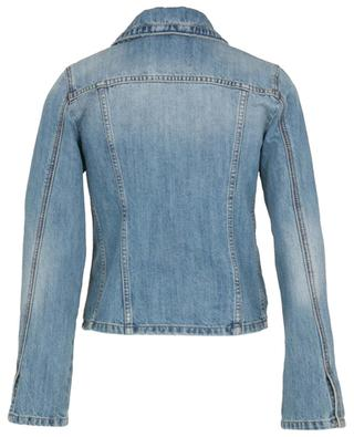 Slim fit jeans jacket with crystal brooches ERMANNO SCERVINO