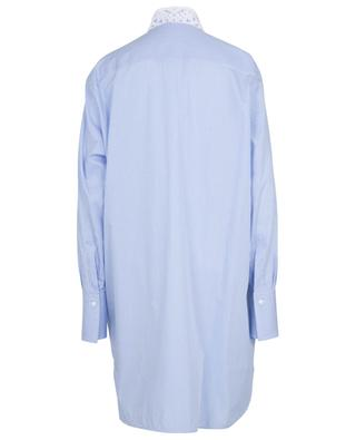 Robe chemise ample rayée ornée de broderies anglaises ERMANNO SCERVINO